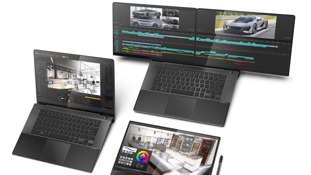 The Compal FullVision concept laptop.
