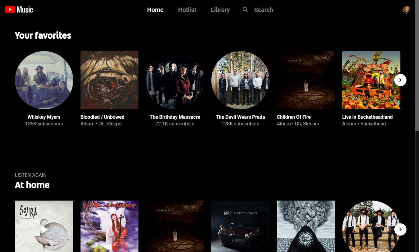 a look at YouTube Music's Favorites section