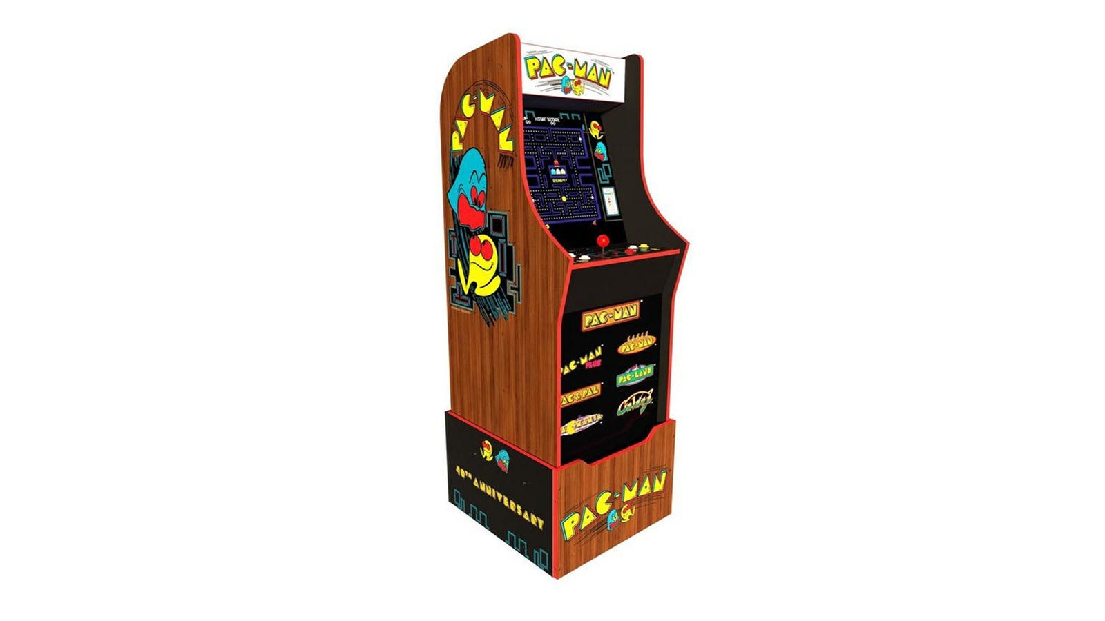 A PAC-MAN 40th Anniversary Edition Arcade1Up machine.
