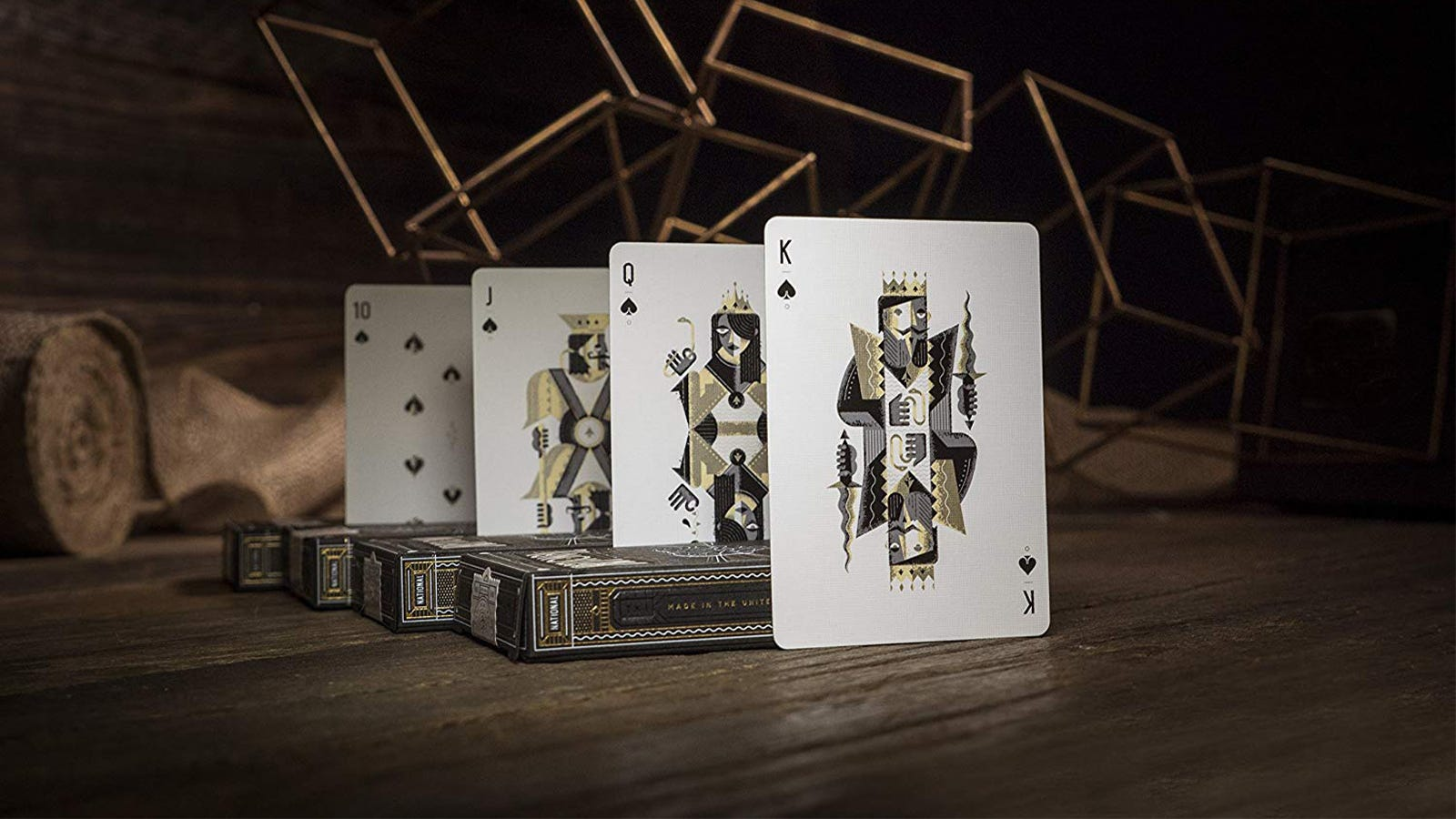 theory11 National Playing Cards showing the king, queen, jack, and 10 cards