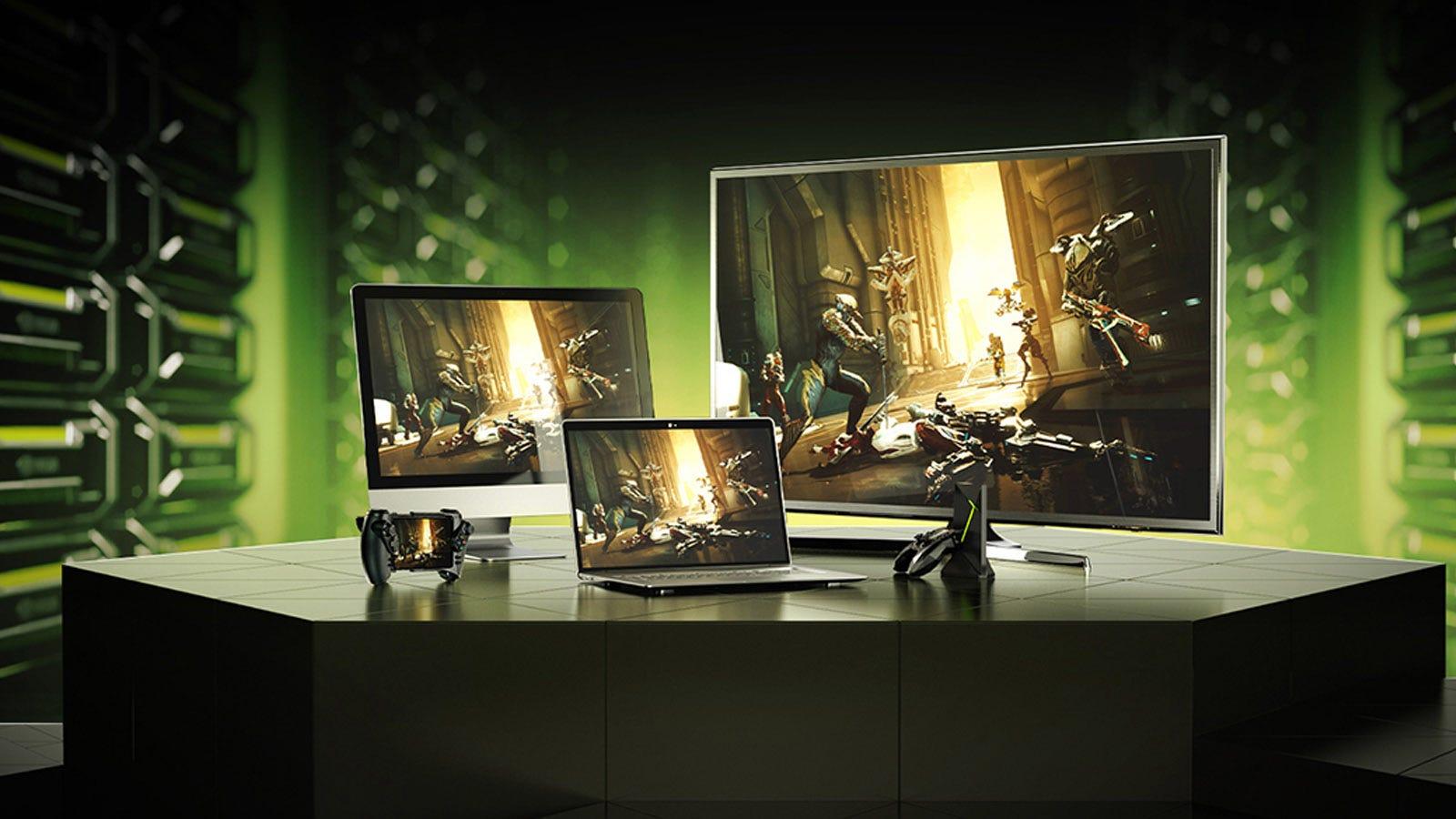 GeForce Now running on multiple platforms.