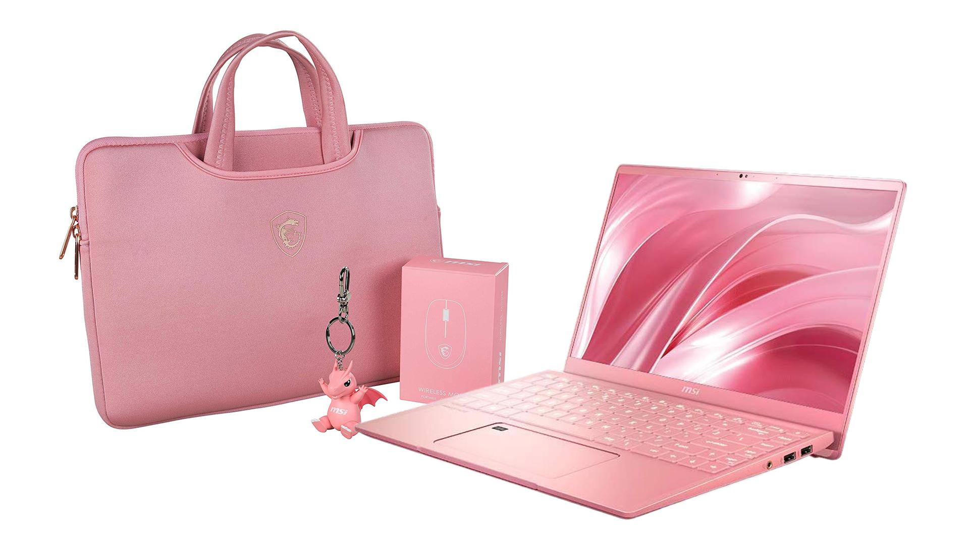 The MSI Prestige laptop.