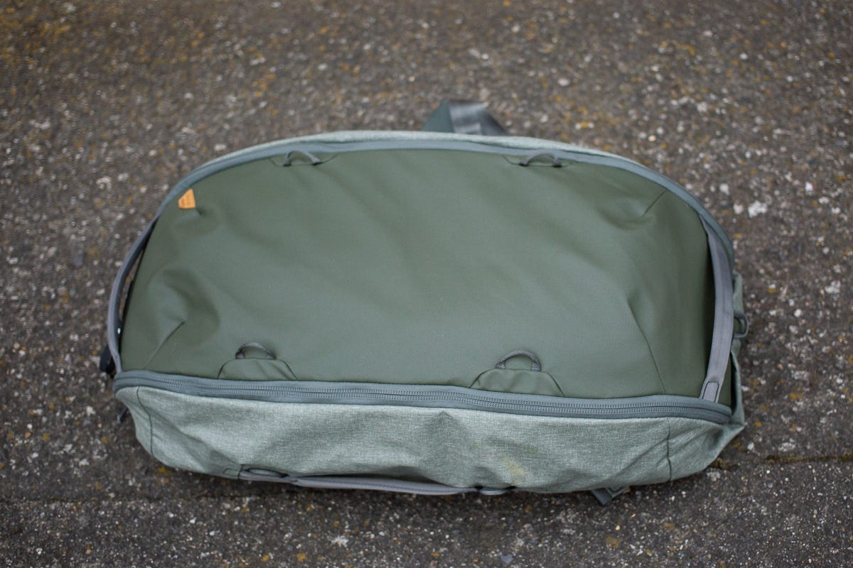 The duffel in its smaller layout.