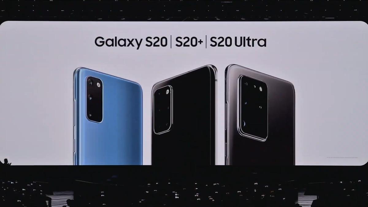 Galaxy S20 presentation.