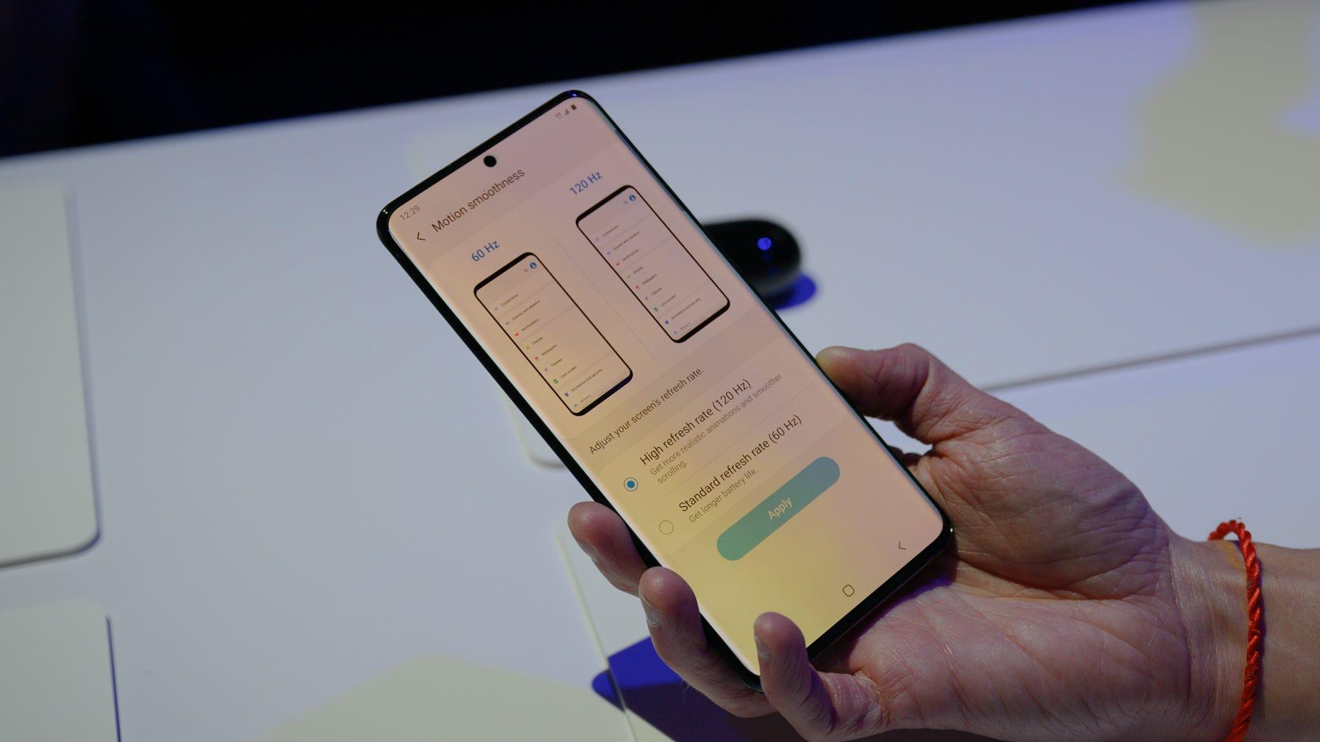 Samsung Galaxy S20 5G Refresh Rate