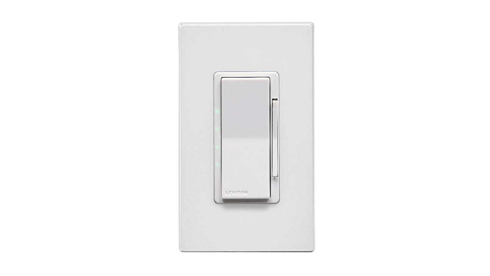 A white Decora Smart Wi-Fi 4-Speed Fan Controller.