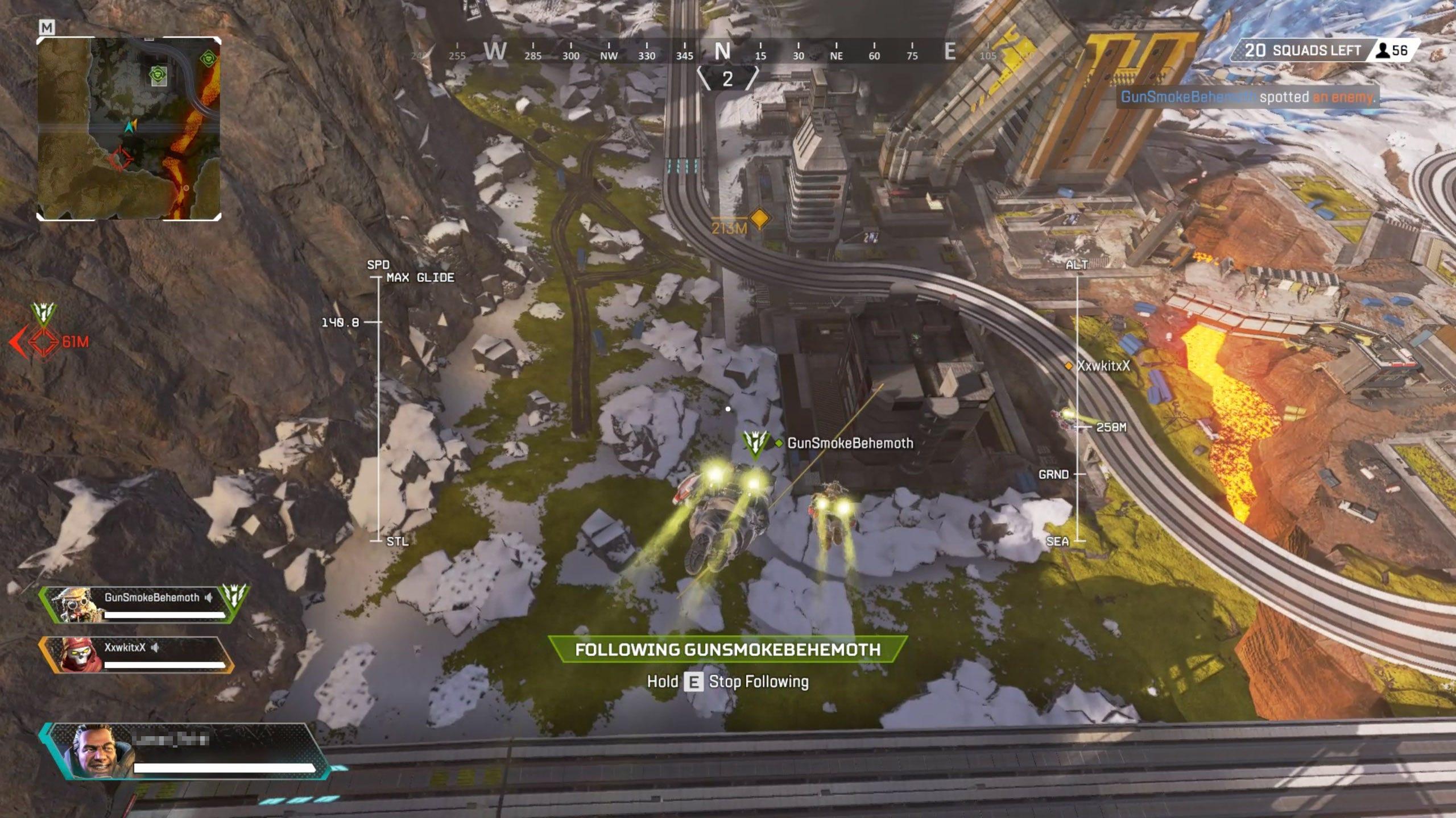 Apex Legends running on GeForce NOW.