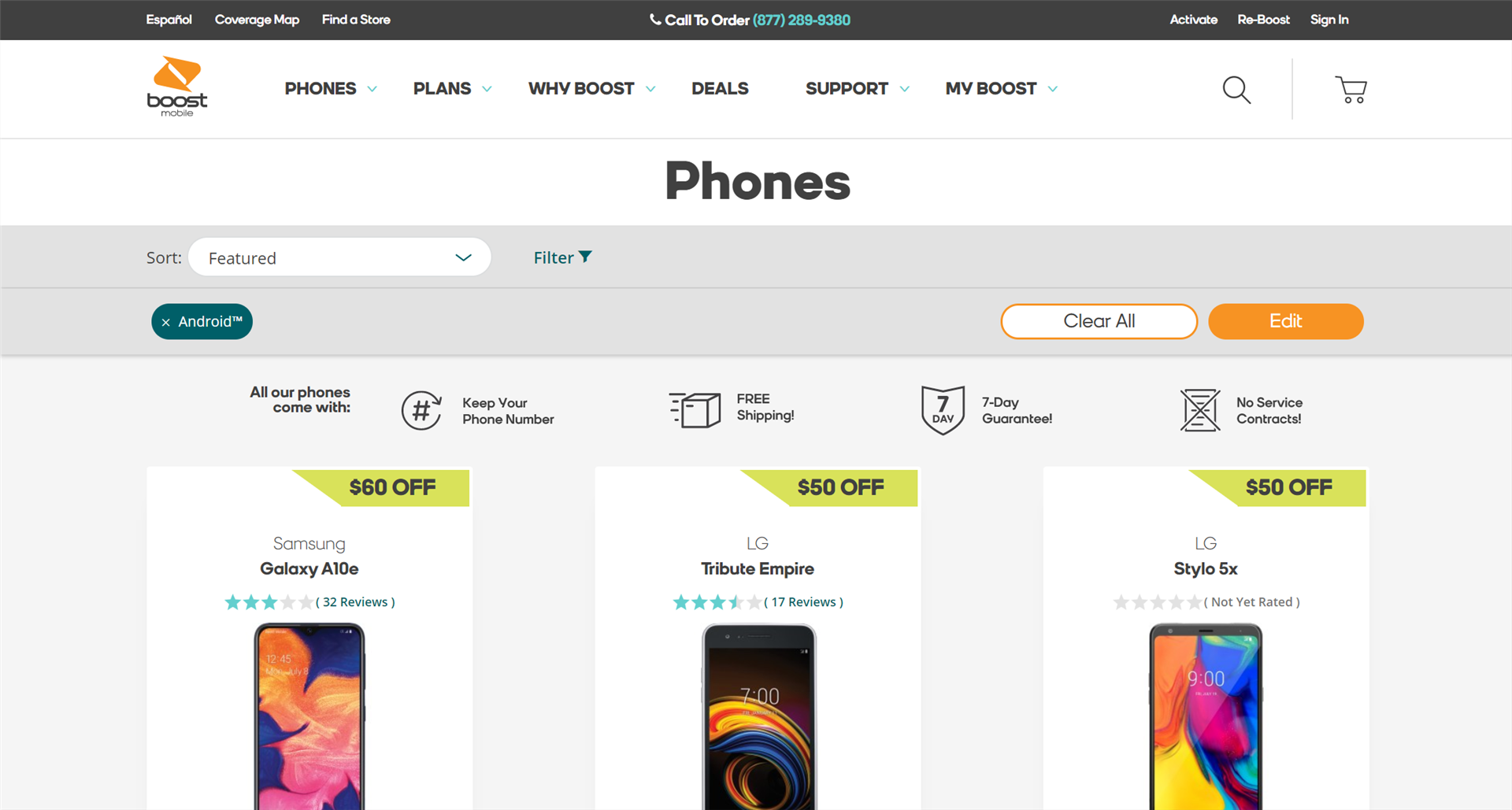 Boost Mobile Galaxy S20 Preorder Page