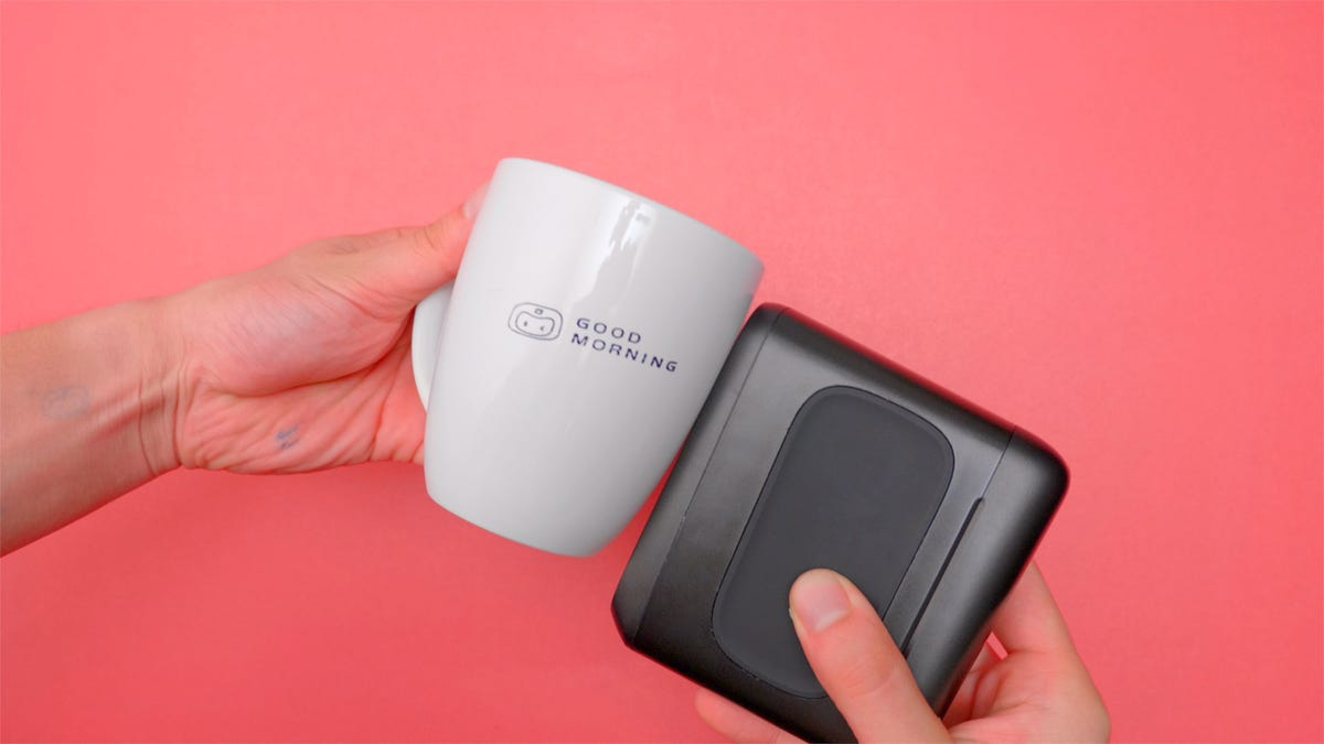 Image of printer printing on cup