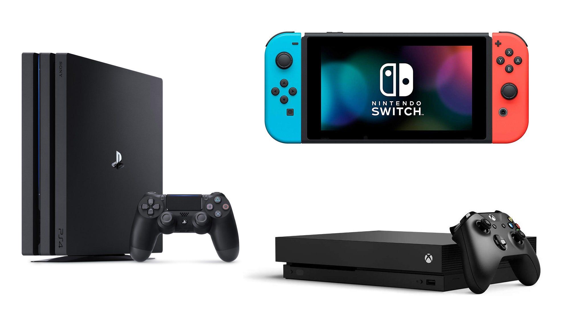PS4 PRo, Xbox One X, Nintendo Switch