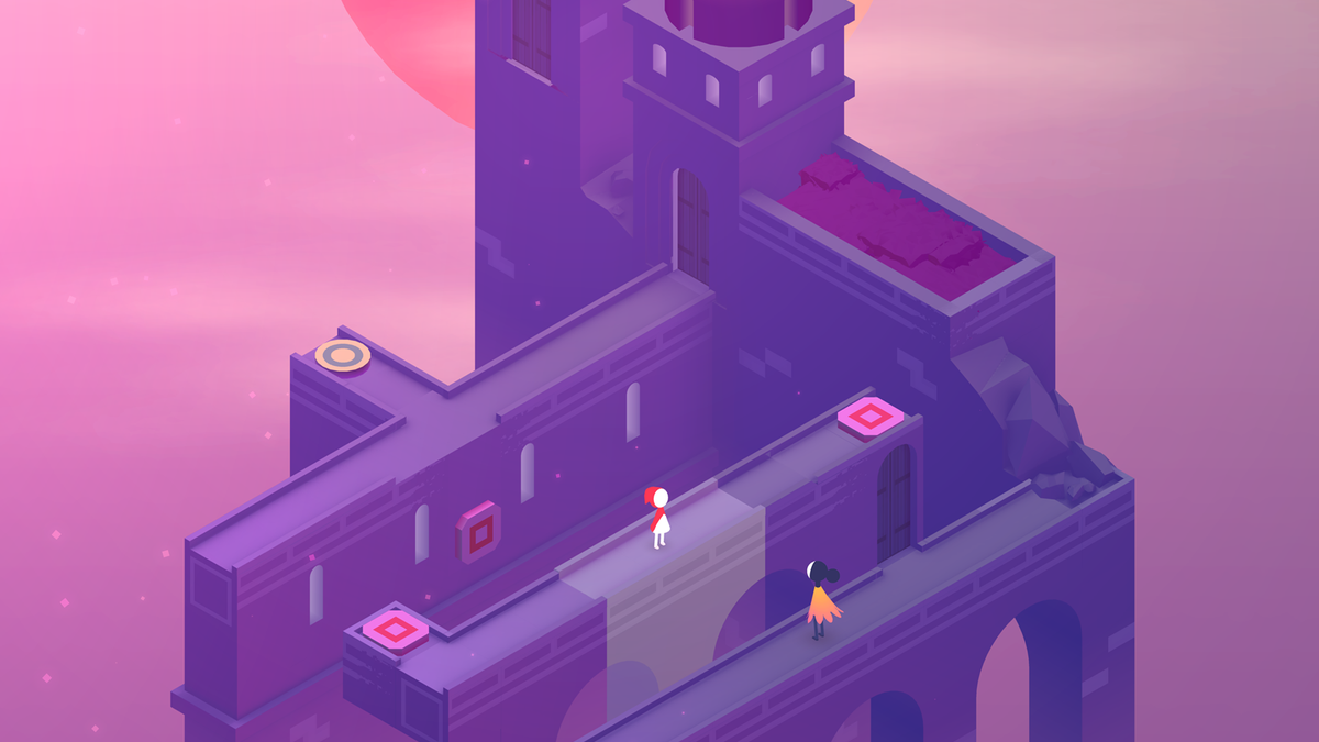 A distincly purple level from Monument Valley 2