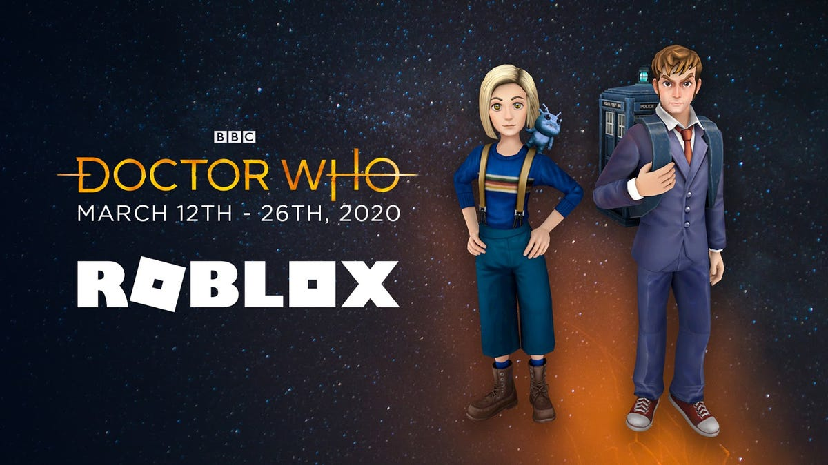 The 10th and 13th Doctor in Roblox avatar form.