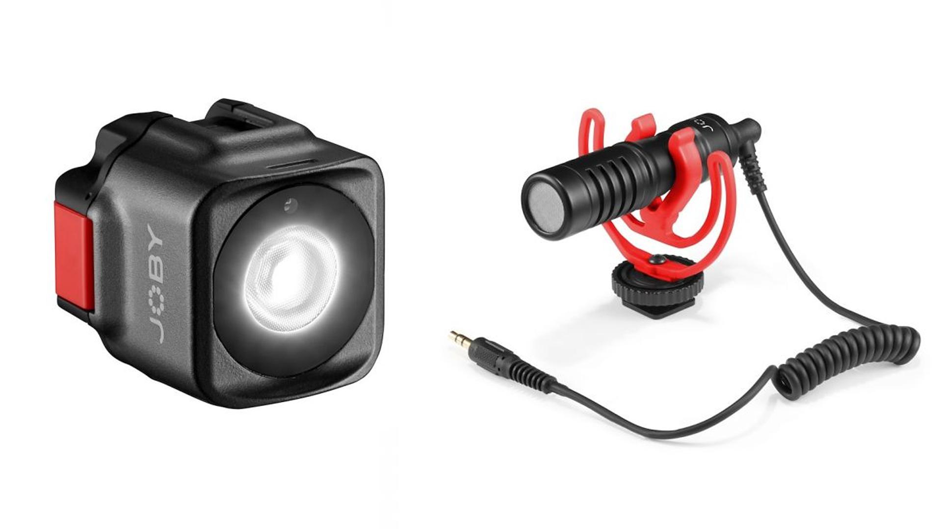 JOBY's new Beamo light and Wavo Mobile mic.