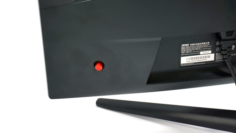 MSI Optix MAG272CQR control stick.