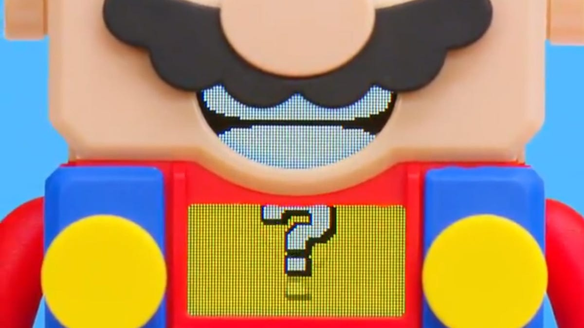 A teaser for Mario-themed LEGO toys.