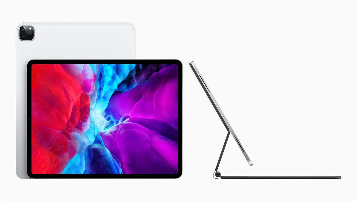 The new Apple iPad Pro on a new Magic Keyboard
