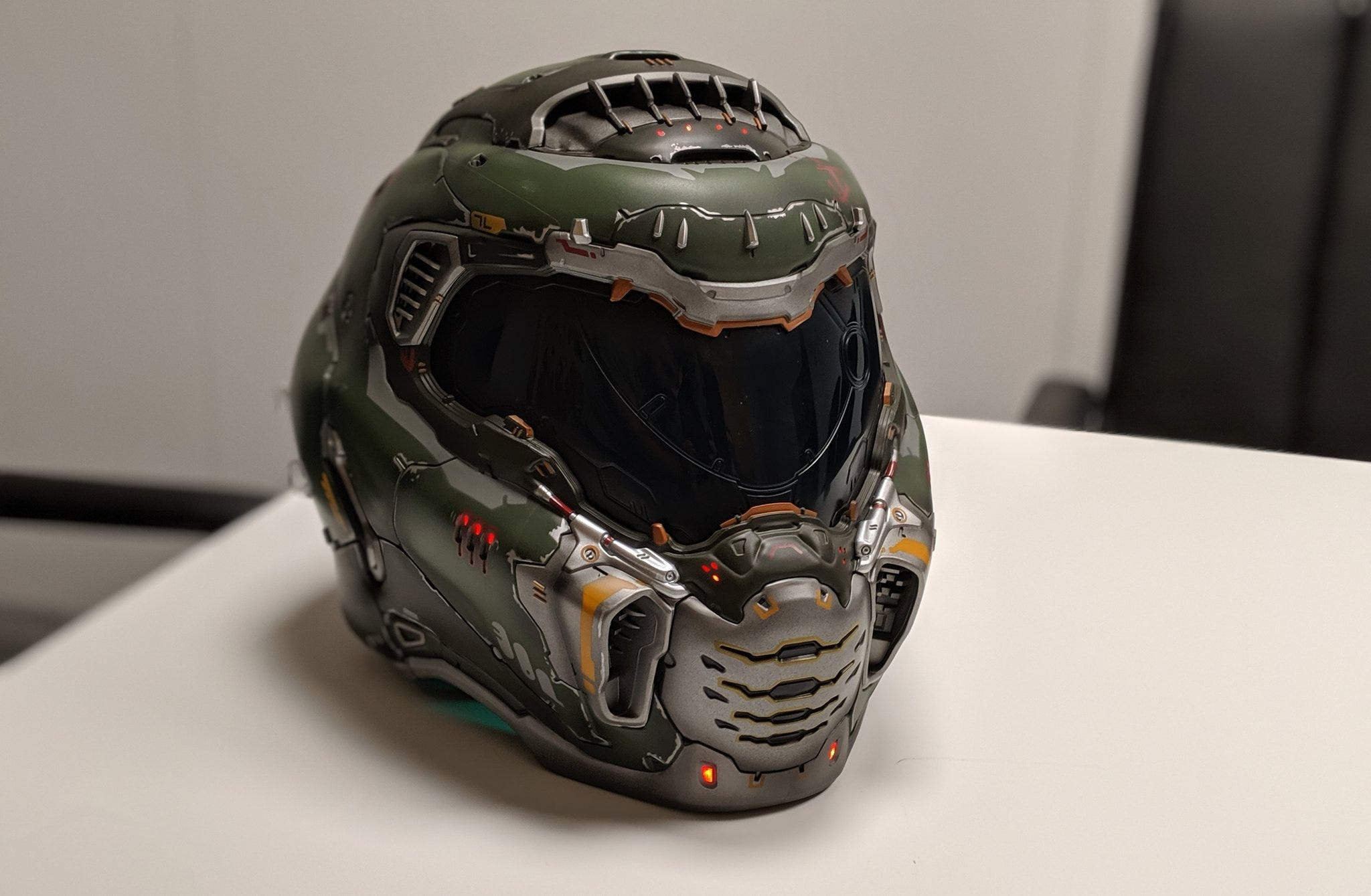 A real Doom Slayer helmet.
