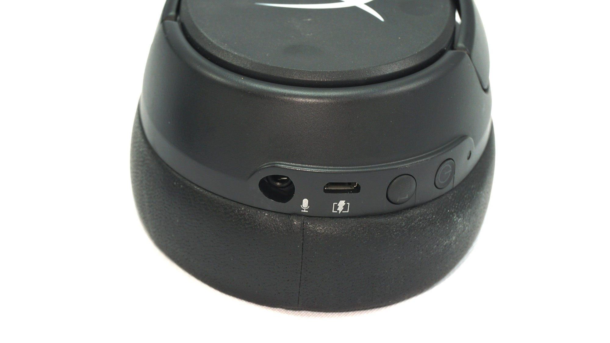 Charging port and detachable mic boom port.