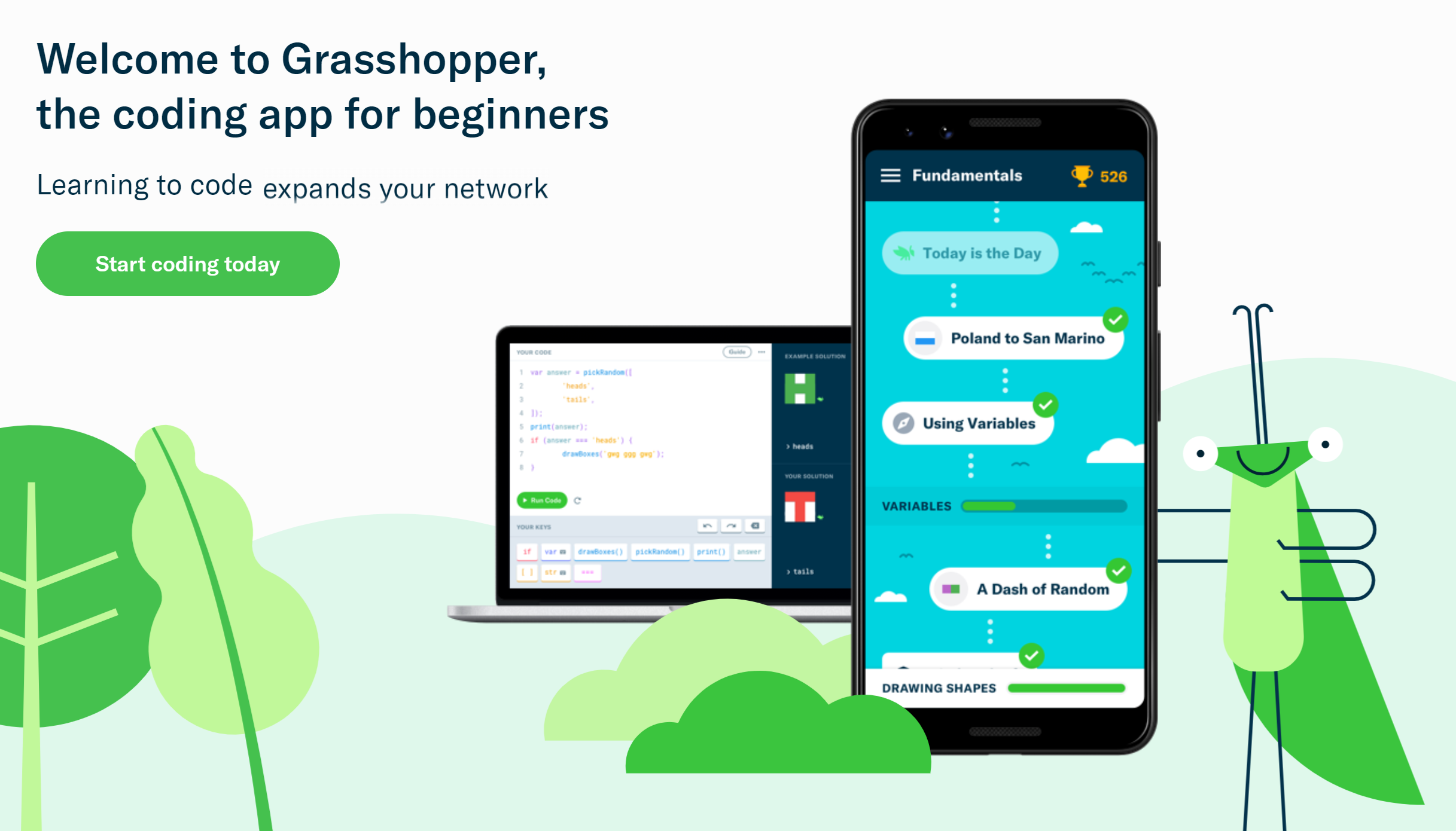 Grasshopper Coding App
