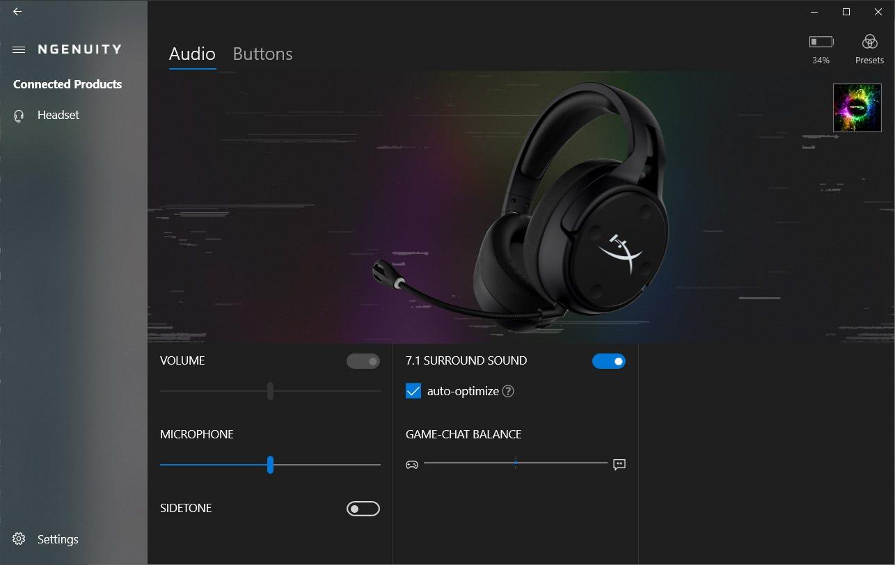 Surround sound software enabled.