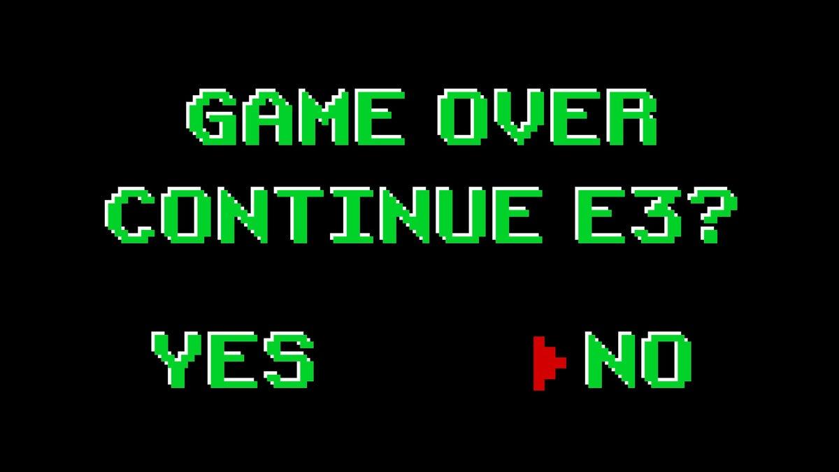 E3 continue screen
