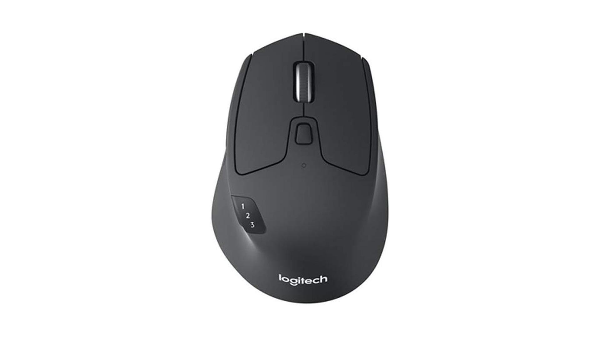 A photo of the Logitech triathlon mouse.