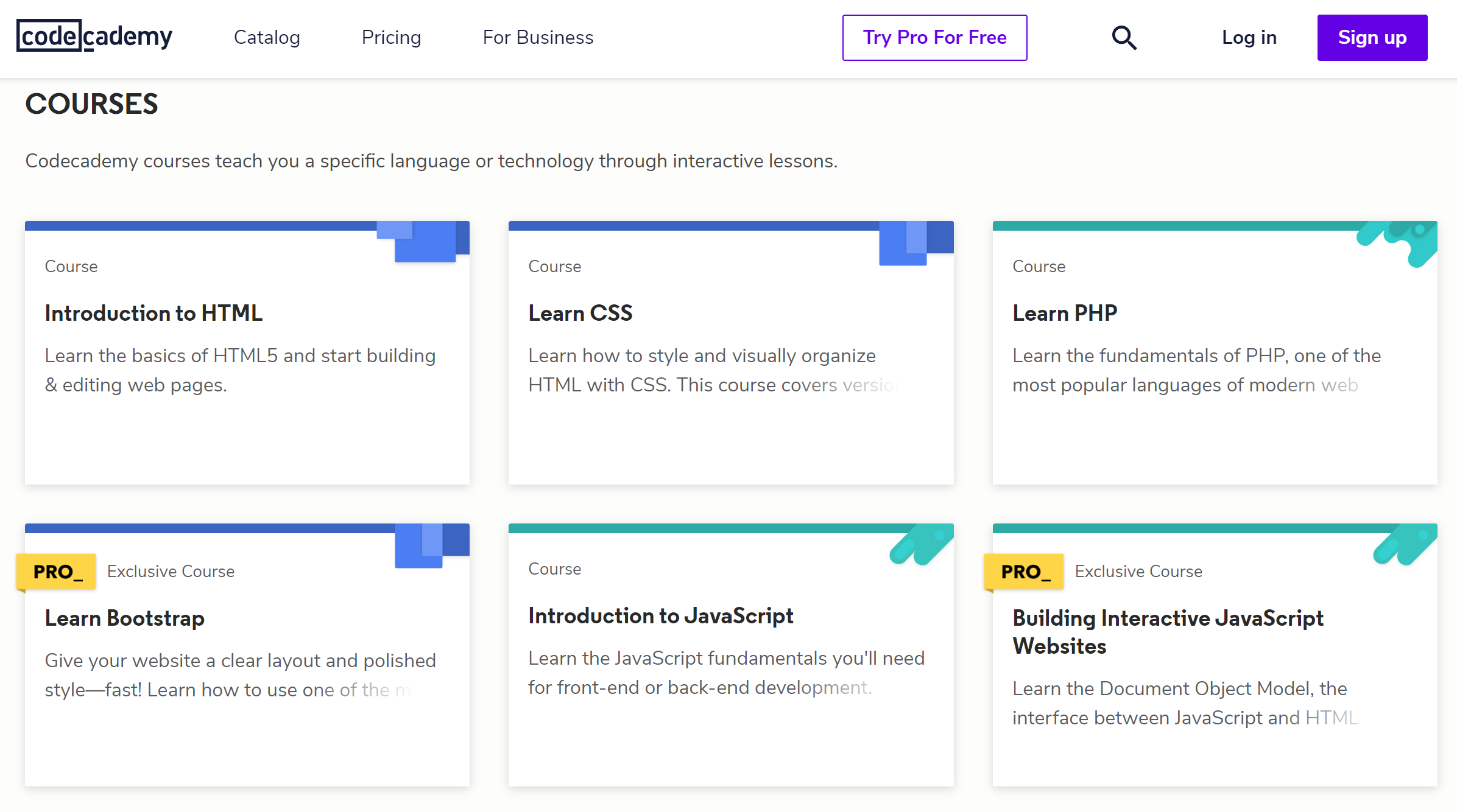 Codecademy Beginner Courses