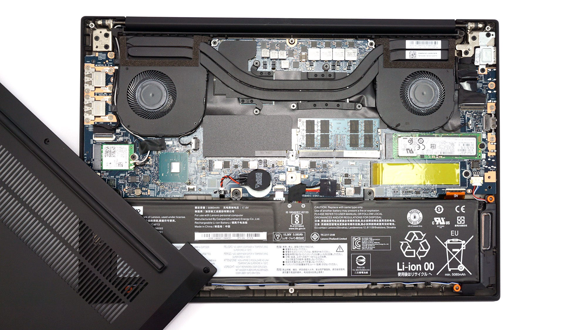 X1 with bottom cover removed.
