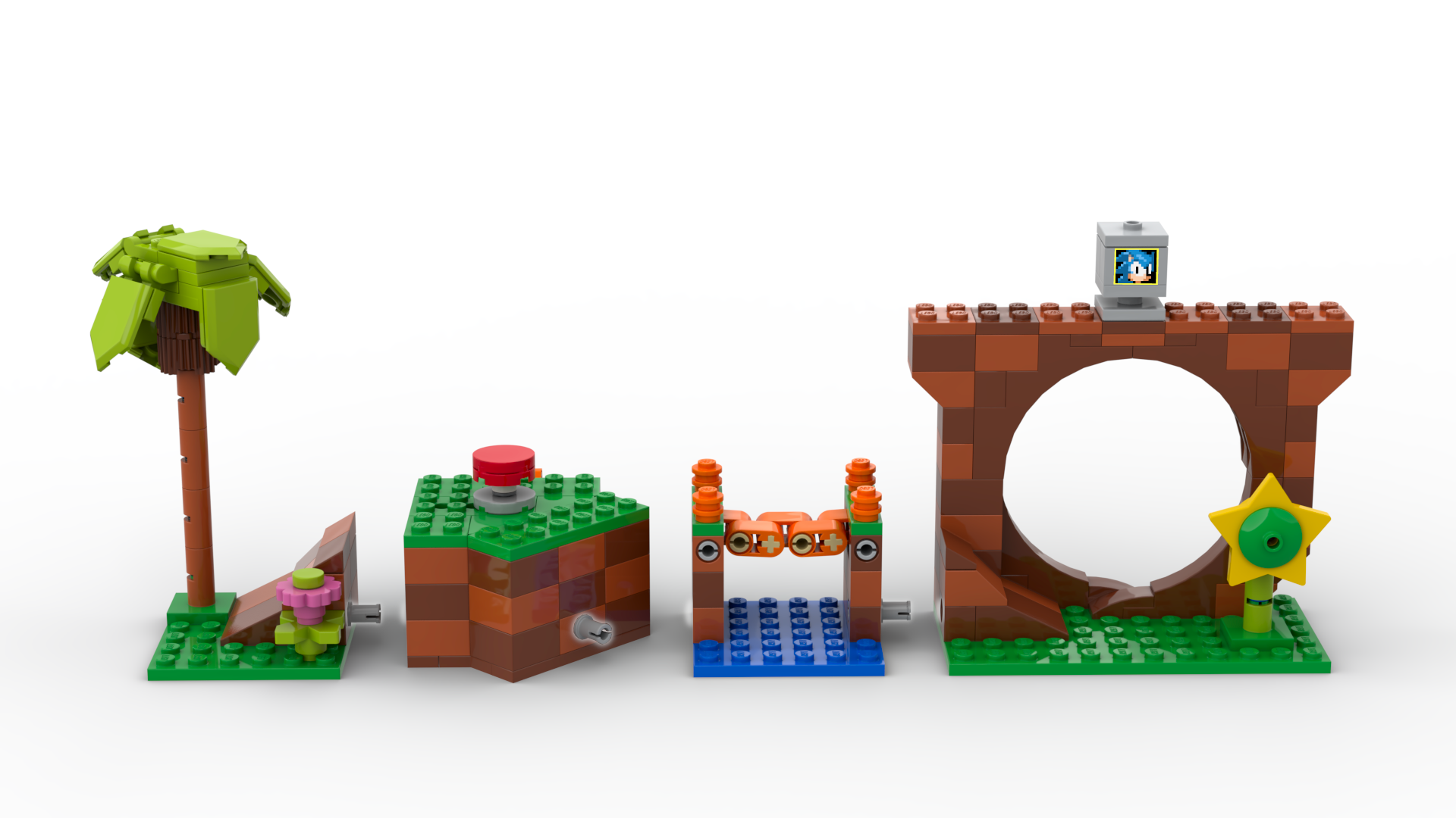 A Green Hills Zone inspired set, complete with Loop, tree, and Ring Box.