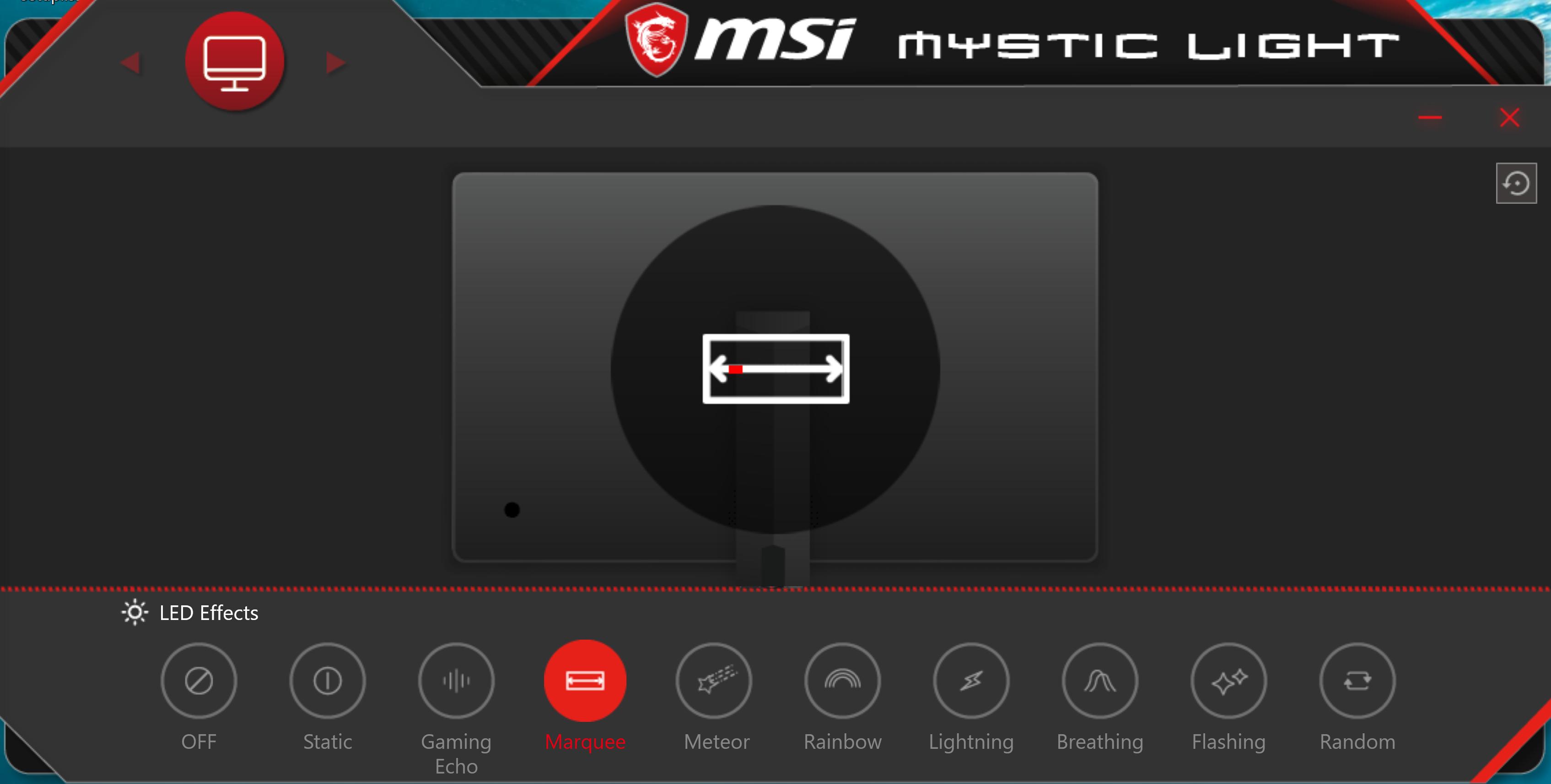 MSI Optix MAG272CQR lighting software.
