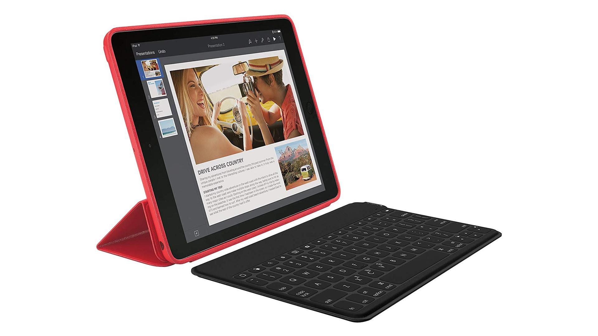 The Logitech Keys-to-Go wireless keyboard.