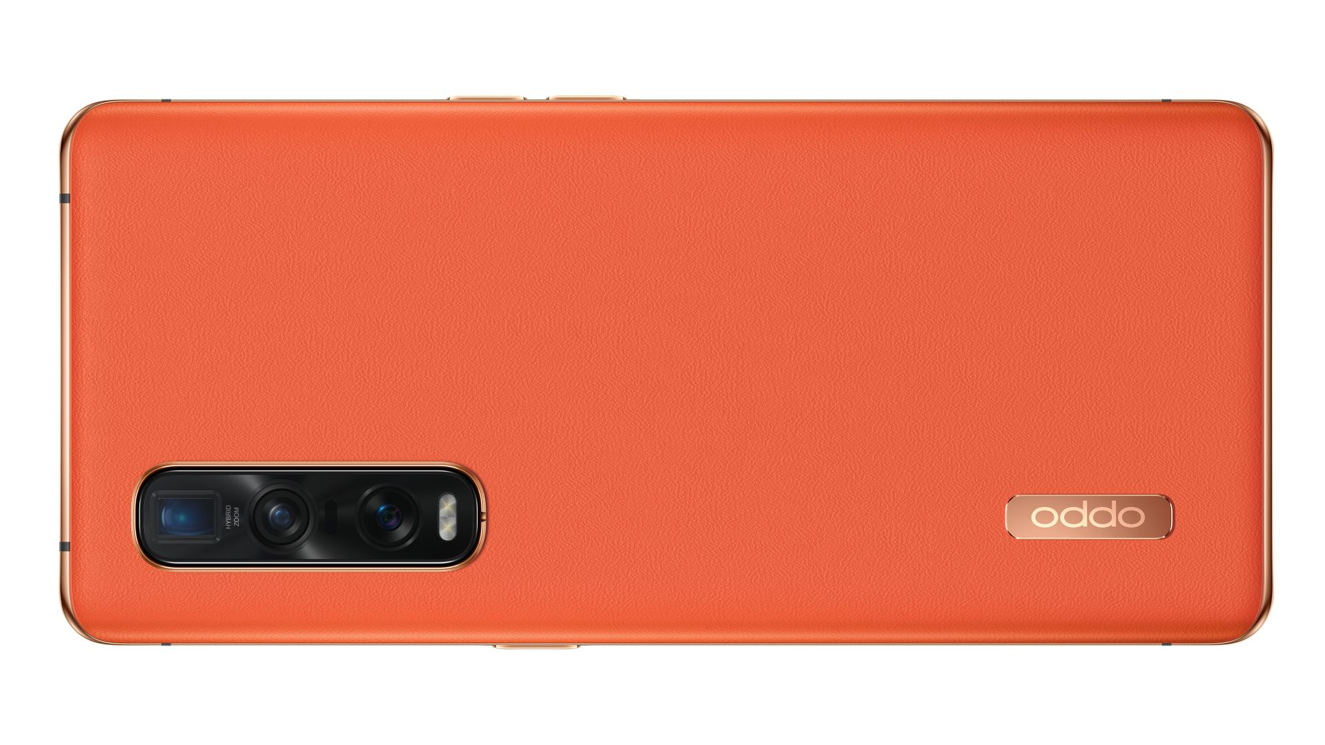 A photo of the orange leather Oppo Find X2