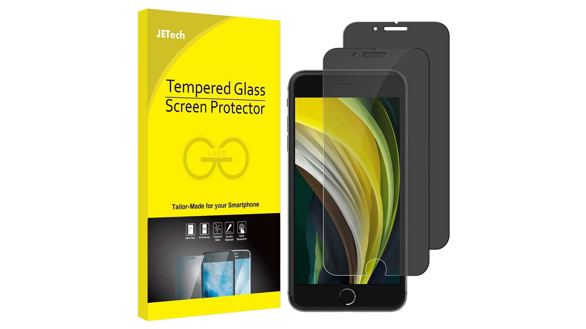 A photo of the JETech screen protector.
