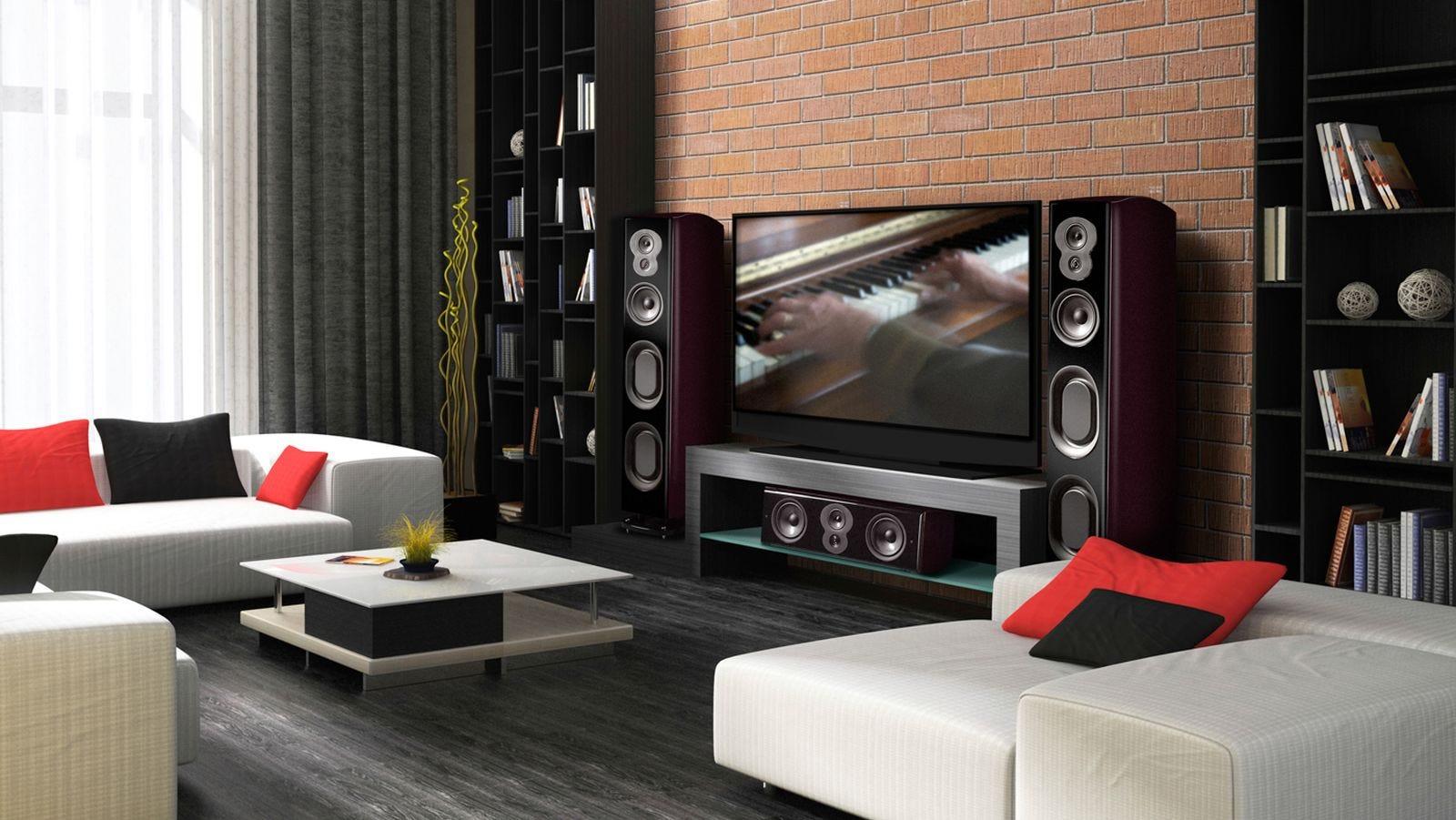 LSiM 707 loudspeakers in living space