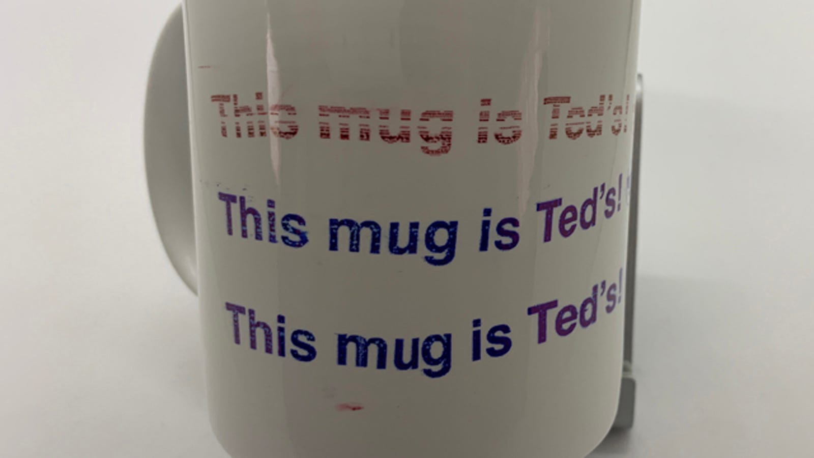 Image of mug with printing.