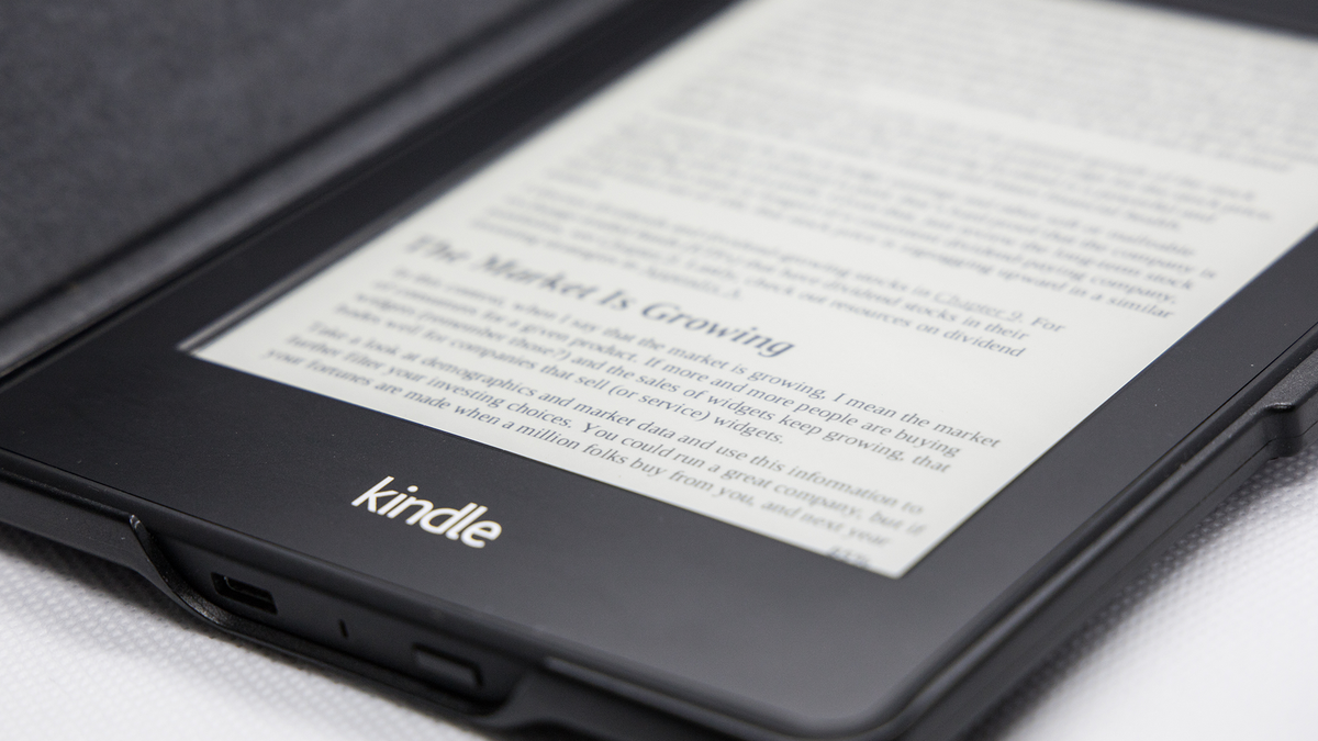 A photo of the Kindle Paperwhite.
