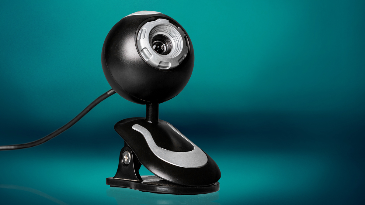 A photo of an old webcam.