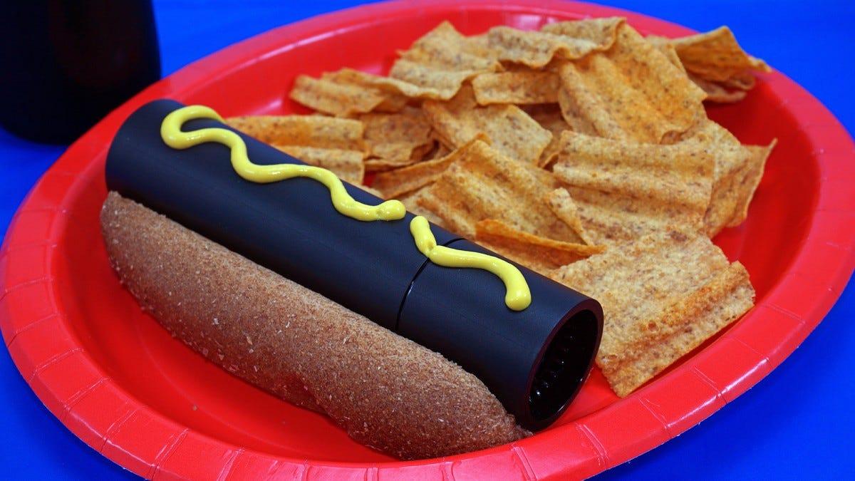 NVIDIA SHIELD as a hot dog.