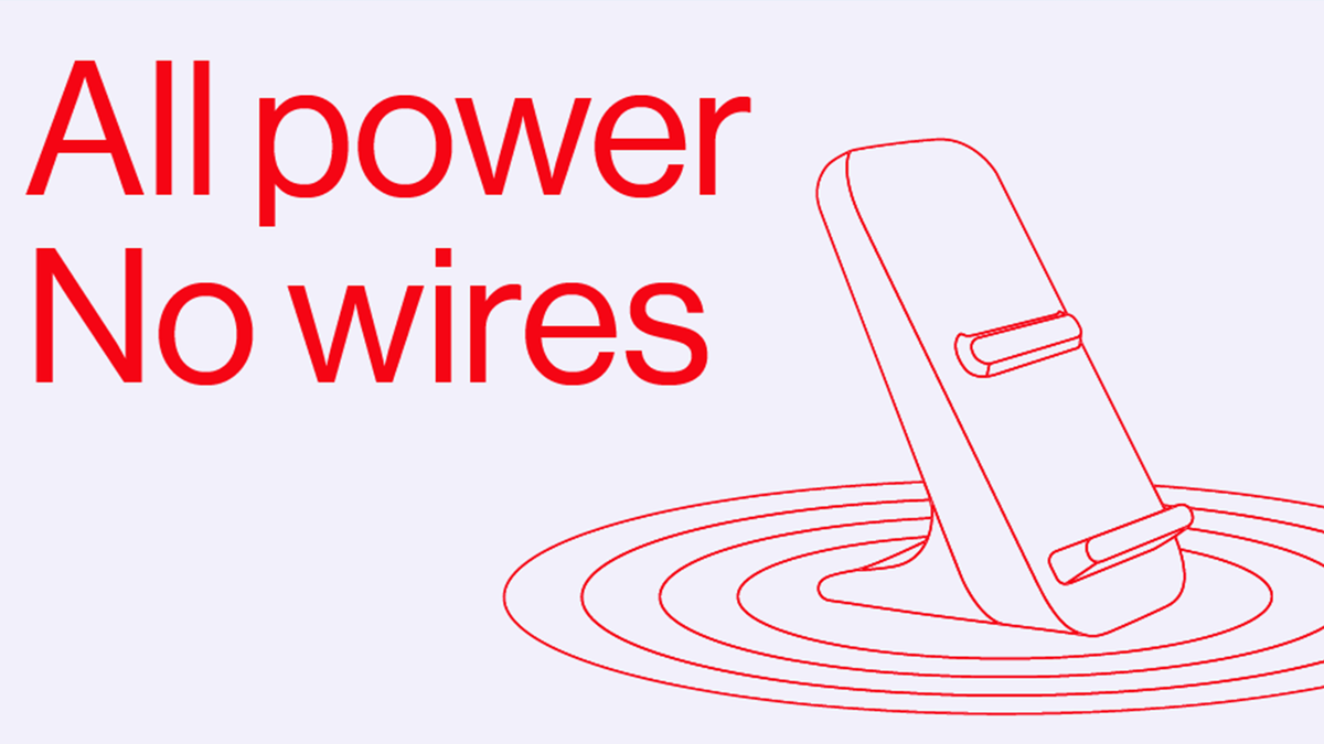 An illustration of the OnePlus wireless charging dock.