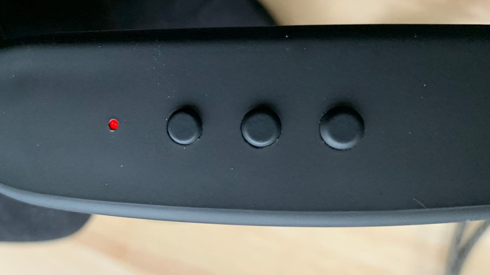 Photo of headphone control buttons