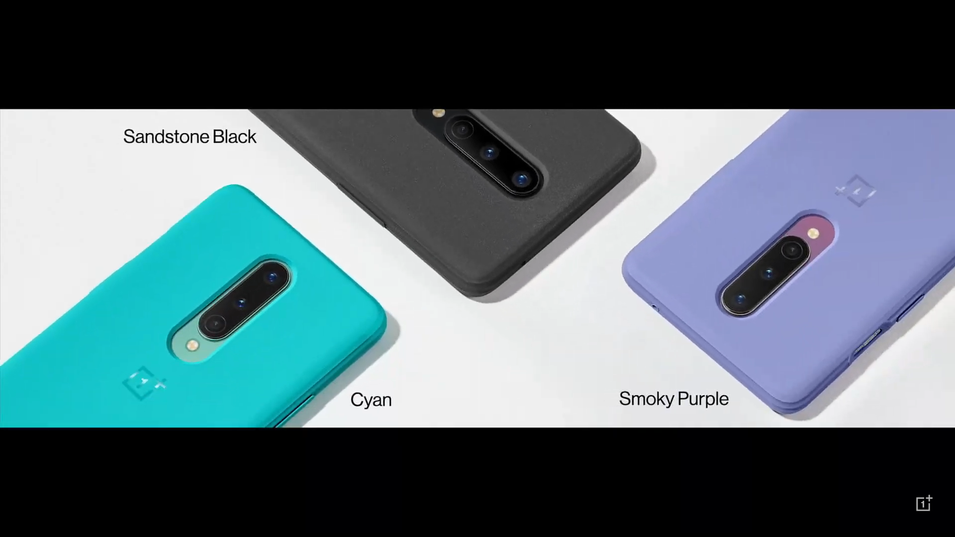 Three cases in blacky, cyan, and purple.