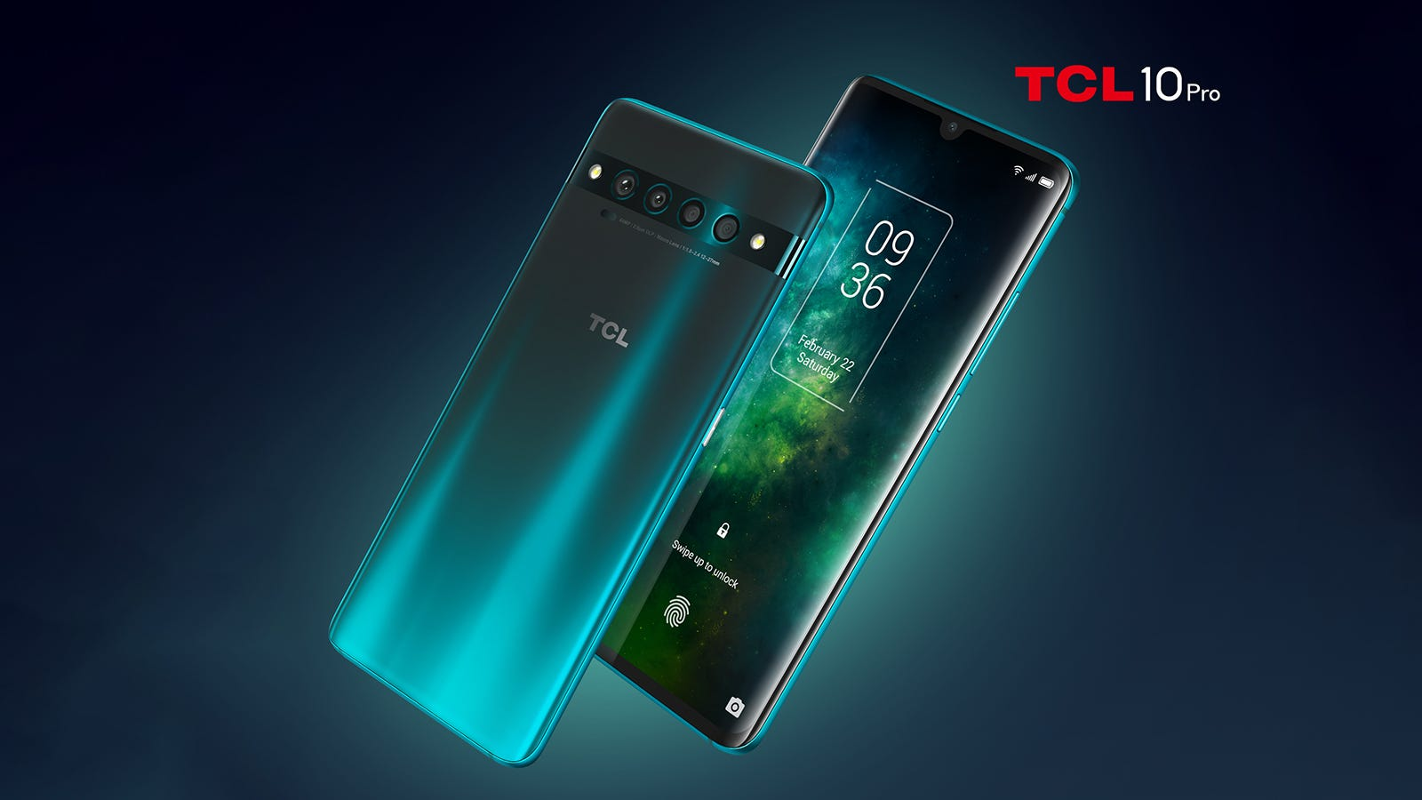 Two TCL 10 Pro phones one with a grey back.