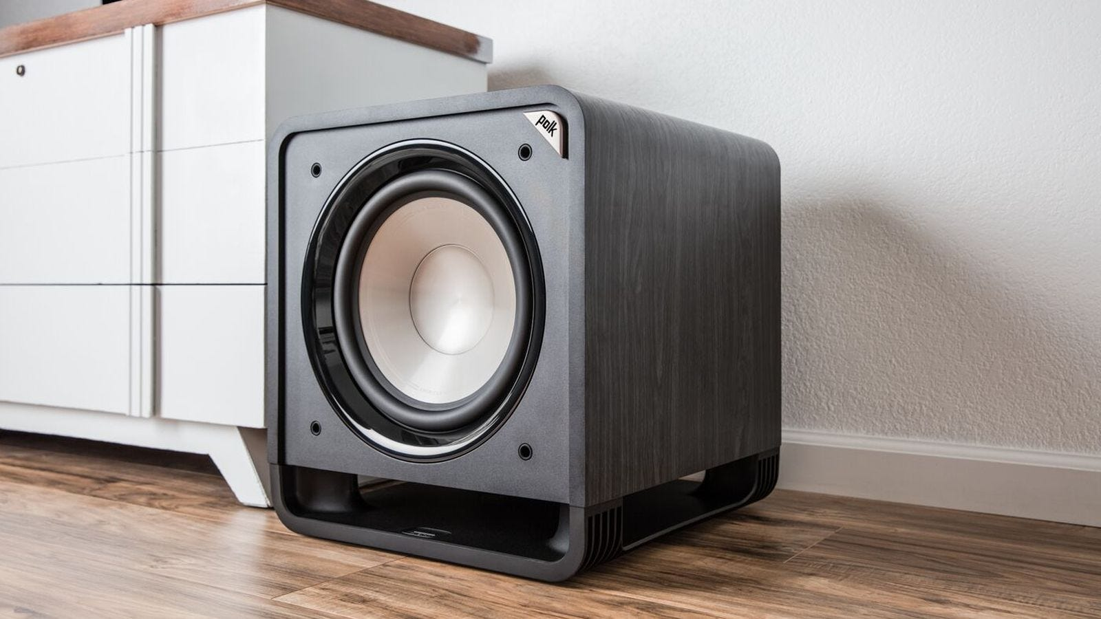 polk hs12 sub-woofer in living space