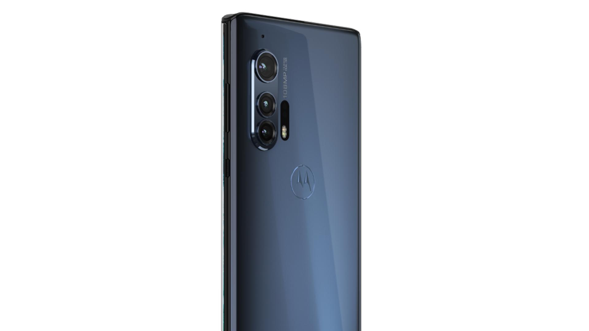A photo of the Motorola Edge+.