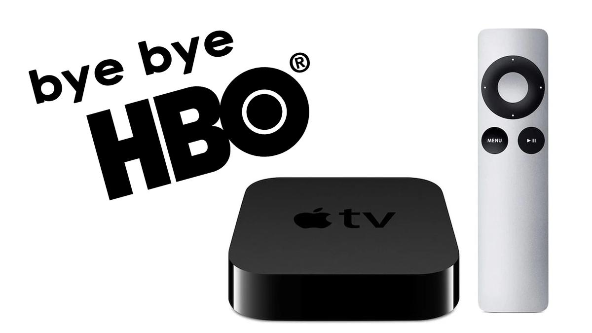 An illustration of HBO leaving old Apple TVs