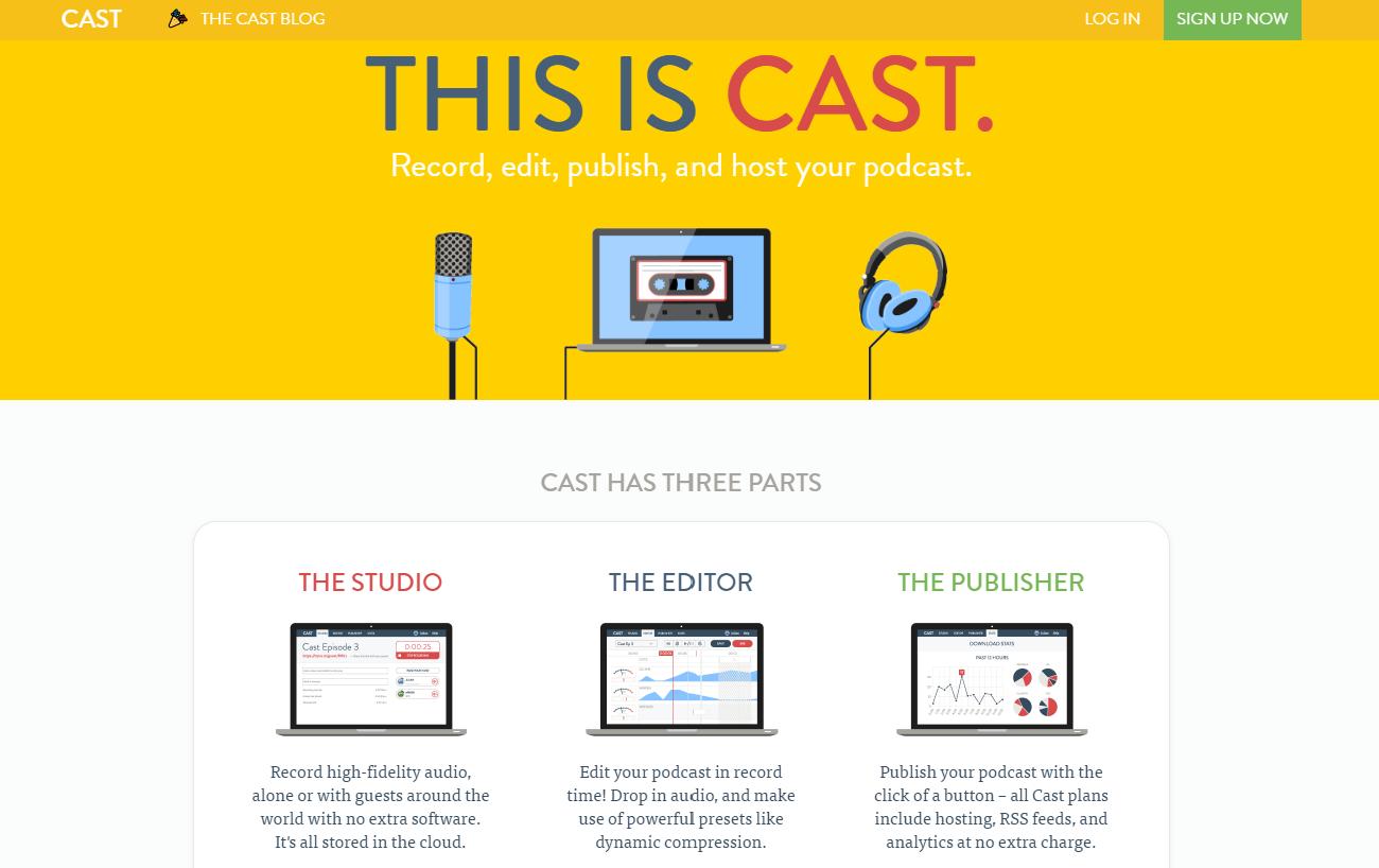 Cast podcast creator service