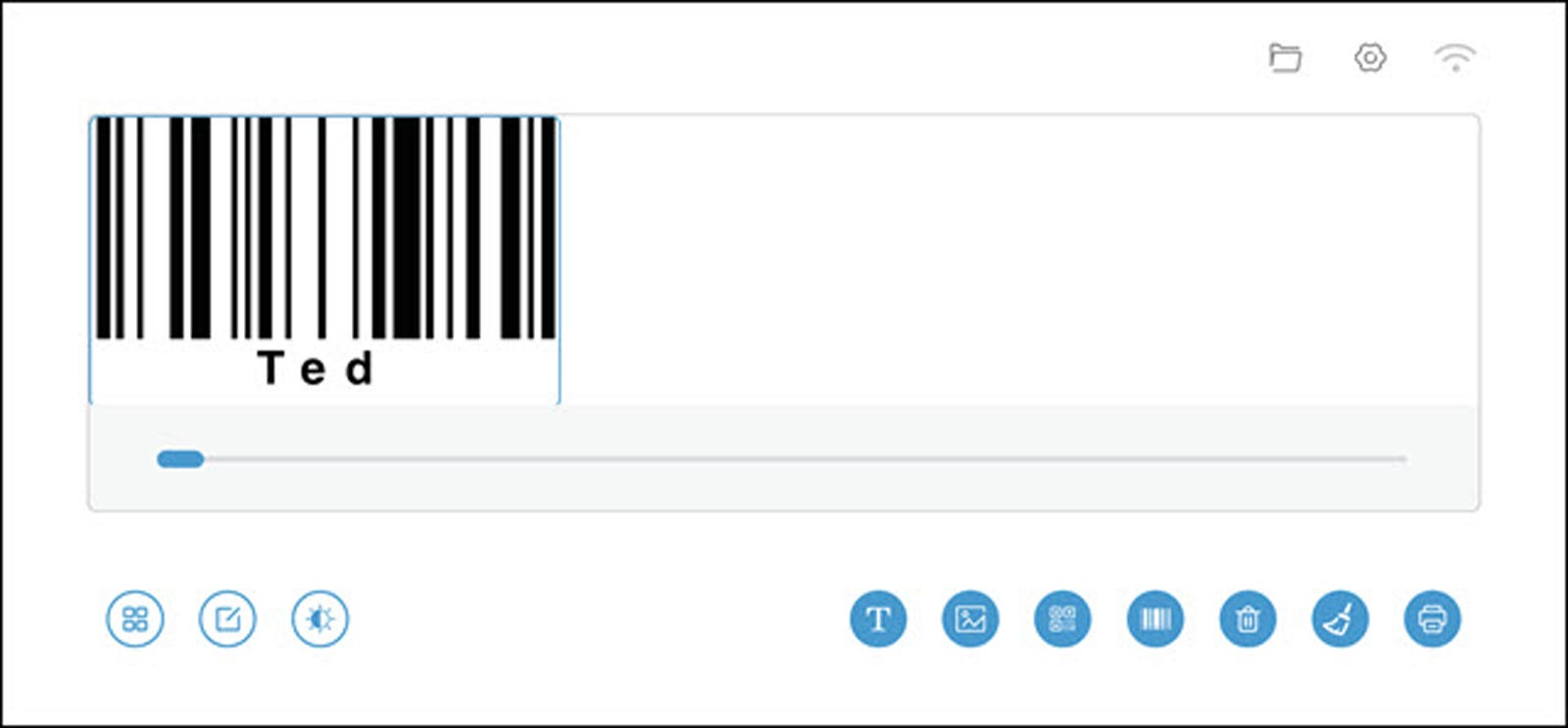 Image of bar code in Selpic Editor.