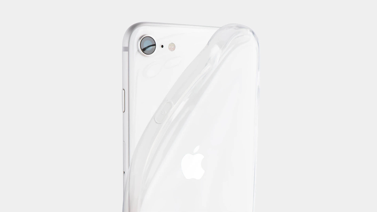 A photo of the totallee clear soft case.