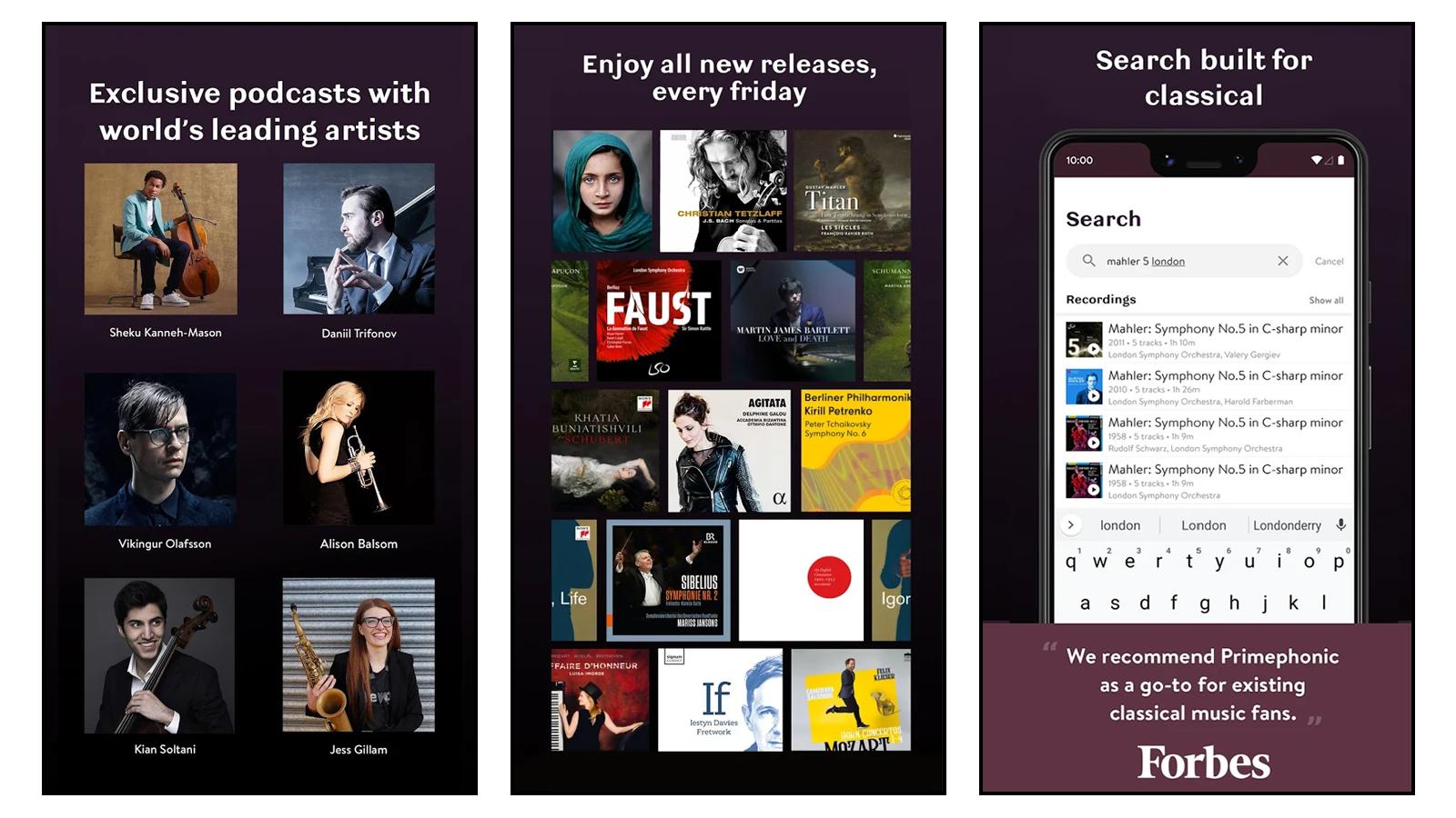 Primephonic App Images
