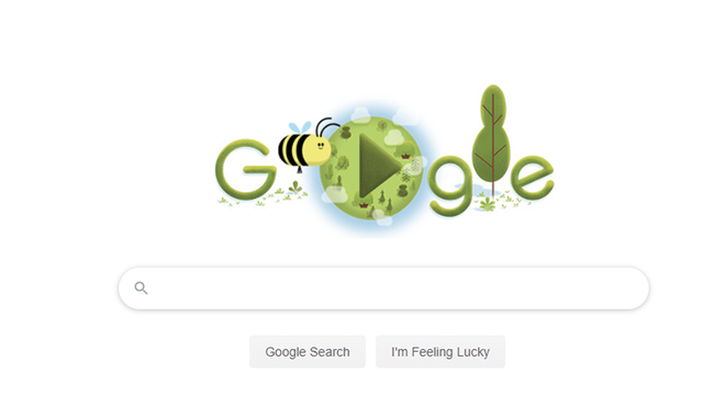 Google Doodle Celebrates Earth Day With a Relaxing Honeybee Game